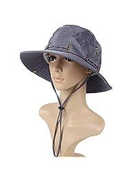 Women Summer Bucket UV Sun Block Beach Hat, Fashion Sun Protection Hat