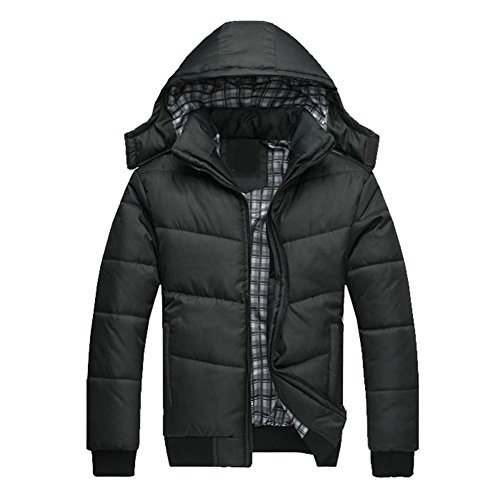 Healthy Clubs Männer Warm Winter Hoodie Jacken Stehkragen Herren Daunenjacke Outwear Mäntel