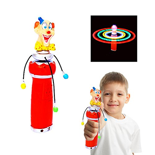 Toy Cubby Light-up Flashing LED Lights Hand-held Spinning Clown by Toy Cubby