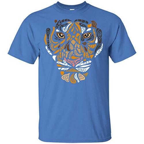 (Beautiful Floral Texture Tiger Face Eye Starring Design T-Shirt - Love Wildlife Animal Tiger Eye Starring Design Shirt, M, Unisex T-Shirt/Iris )