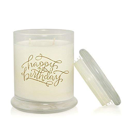 Happy Birthday Glitter Hand Poured Soy Candle