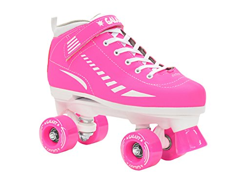 Epic Skates Galaxy Elite Kids Quad Speed Skates, Pink, Youth...