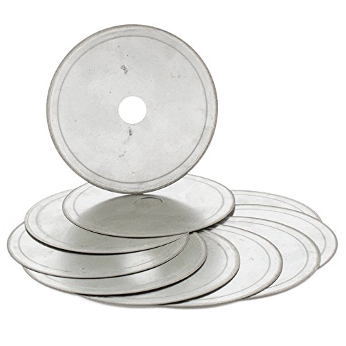 "JOINER 4.5"" inch 110mm Super-Thin Arbor 5/8"" Rim 0.43mm Diamond Lapidary Saw Blade Cutting Disc Saving in Material Jewelry Tools Gemstone Pack of 10Pcs"