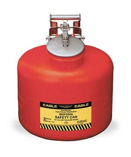 Eagle 1525 Disposal Polyethylene Safety Can, 5 Gallon Capacity, Red by Eagle