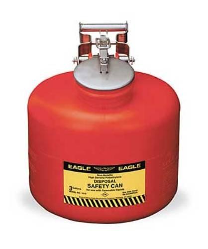 Eagle 1525 Disposal Polyethylene Safety Can, 5 Gallon Cap...