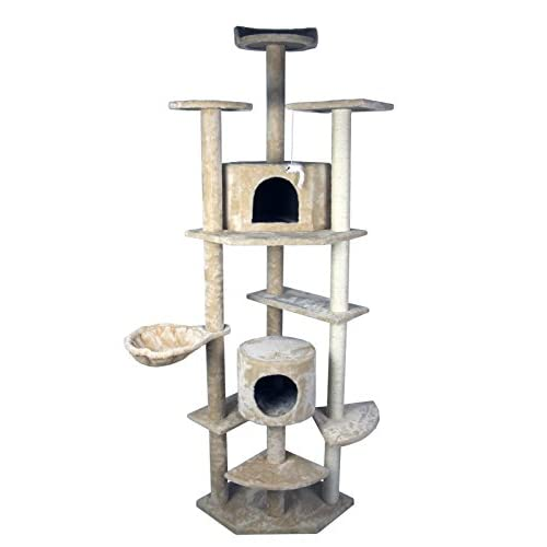 """outlet 79"""" HIDING CAT TREE Tower Condo Furniture Scratch Post Kitty Pet House Play Furniture Sisal Pole and Stairs (Beige) by HIDING"""