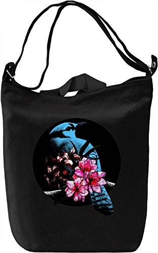 Blue Jay Bird Borsa Giornaliera Canvas Canvas Day Bag  100% Premium Cotton Canvas  DTG Printing 