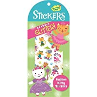Peaceable Kingdom Sparkly Glitter! PLACE IN FASHION Kitty Sticker Pack
