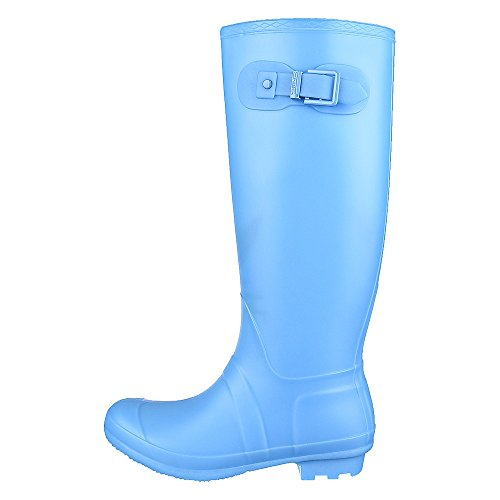 Shiekh Women's Mid-Calf Rainboot Rainny-1 Boot - Turquoise Size 8.5