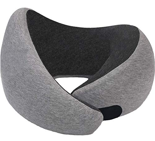 (RUN-TIGER Model P9 -Air Travel Neck Pillow - Memory Foam with Chin Support - Adjustable with Hook and Loop - Comfort at Sleeping on Plane - Prefect Head Support - Washable Outer Fabric)