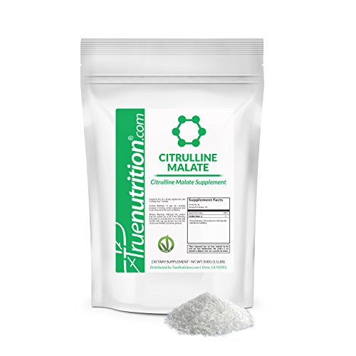 True Nutrition Citrulline Malate Powder | 500 Grams |Vegan Citrulline Malate from fermented plant-based ingredients!