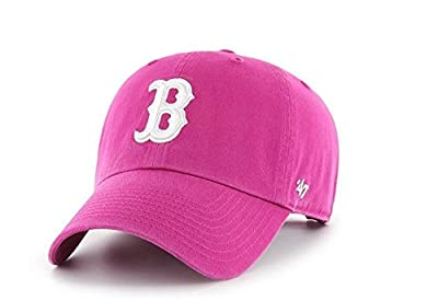 Boston Red Sox '47 Brand Clean Up Adjustable Hat - Orchid Berry by 47 Brand, LLC