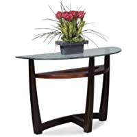 Bassett Mirror T1078-400/087 Elation Half-Moon Glass Top Console Table