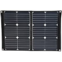 SolarOak 40W Solar Charger with Portable Foldable Solar Panel Outdoor Water Resistant SunPower Battery Charger for iPhone,iPad,iPod,Samsung,Camera,All Cellphone and More (Black)