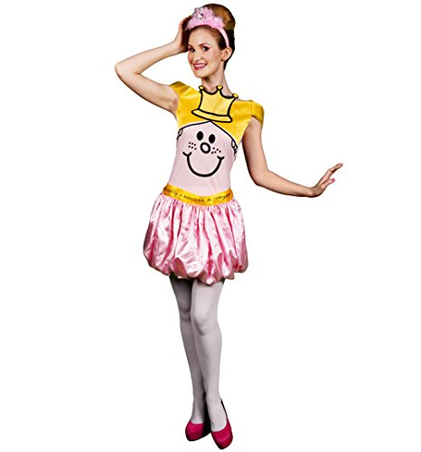 [Womens Little Miss Princess Fancy Dress Costume] (Little Miss Princess Costume)