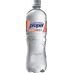 Propel, Peach, Zero Calorie Sports Drinking Water with Antioxidant Vitamins C & E, 24 Ounce Bottles (Pack of 12)