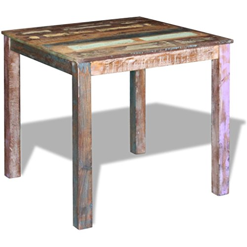 vidaXL Solid Reclaimed Wood Dining Table Kitchen Dining Room Home Furniture from vidaXL