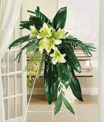 Funeral Spray - White Perfection Spray - Same Day Funeral Flower Arrangements - Buy Flowers for Funeral - Send Funeral Flowers Delivery & Condolence Flowers Today
