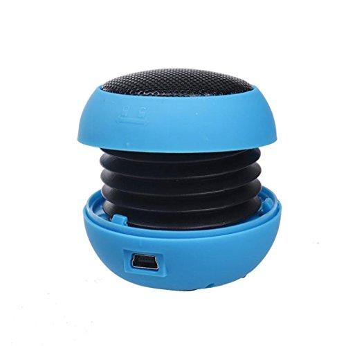 Mini Speaker,Womail subwoofer Hamburger Speaker for iPod iPad Laptop iPhone Tablet PC Blue