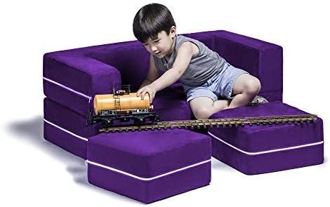Jaxx Zipline Kids Modular Loveseat Ottomans Fold Out Lounger