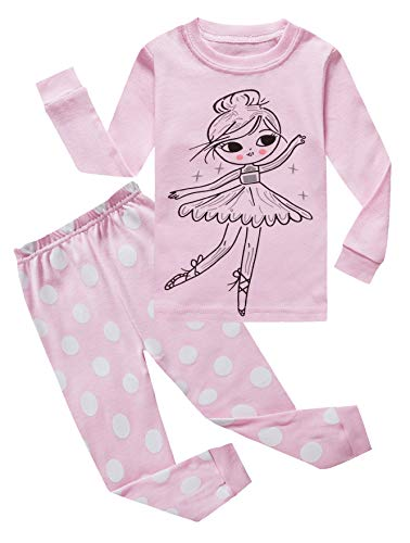 Family Feeling Pjs for Little Girls Long Sleeve Pajamas Sets 100% Cotton Sleepwears Toddler Kids Pjs Size 3T]()