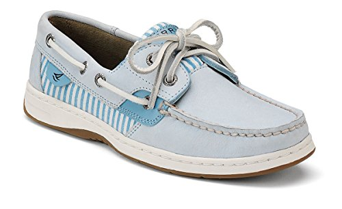 Sperry Top-Sider Women's Bluefish Shoe,Sky Blue/Seersucker,12 M US