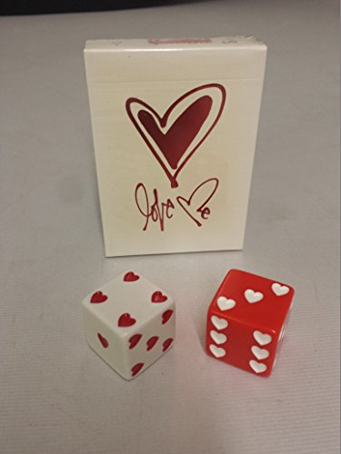LOVE ME PLAYING CARDS & VALENTINES SWEETHEART SET OF DICE