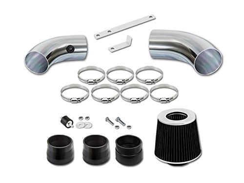 RL Concepts Air Intake Compatible with Chevrolet S10 /Blazer PickUp 96-04 | Black Engine Cold Filter