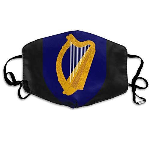 SDQQ6 Coat of Arms of Ireland Mouth Mask Unisex Printed Fashion Face Mask Anti-dust -
