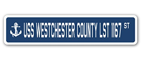 USS Westchester County Lst 1167 Street [3 Pack] of Vinyl Decal Stickers | 1.5