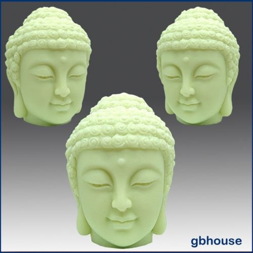 Buddha's Head - 3d Soap/candle/polymer/clay/cold Porcelain Silicone Mold