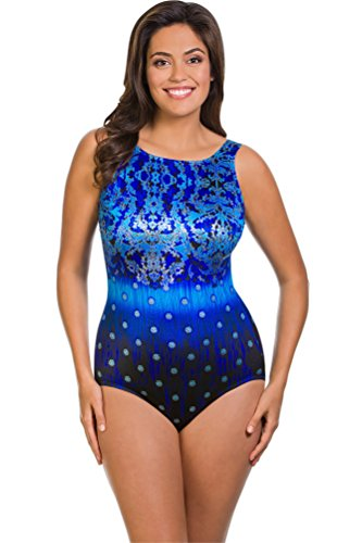 cc296dbad28 Longitude Gilded Age Plus Size High Neck One Piece Swimsuit Size 16W
