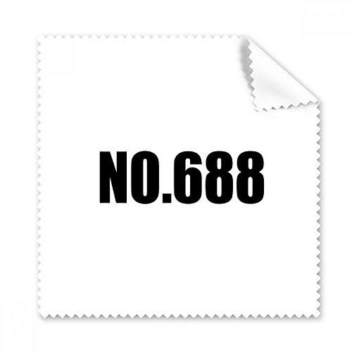 - Lucky No.688 Number Name Glasses Cloth Cleaning Cloth Phone Screen Cleaner 5pcs Gift
