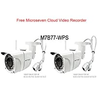 2 Microseven M7B77-WPS HD 1080P SONY 1/2.8 CMOS 3MP 3.6mm Lens Wireless IP Camera POE, Mic Outdoor Sd Slot 128GB,+Free 24hrs Video History In Cloud Video Recorder+Free Live Streaming on microseven.tv