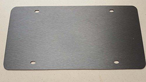 - Blank Gray Aluminum Brush Vinyl Wrap Stainless Steel License Plate