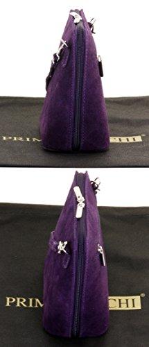 Comprend sacs Violet un de marque carrosserie à cuir petit Suede Primo sac sac de sac italien de micro à ou Sacchi main bandoulière rangement gqTOBTwa