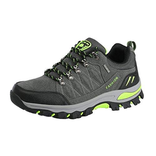 Asiáticos Adultos a 38 Suben Unisex Zapatos Que Impermeables Que Colores Zapatos Los Campo Gris Antideslizantes De Suben Través 44 7 Oscuro xFqSwqa