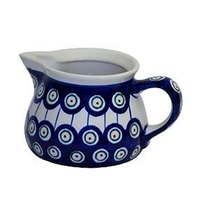 Boleslawiec Pottery Milk jug, 0.6L, Original Bunzlauer Keramik, Decor 8