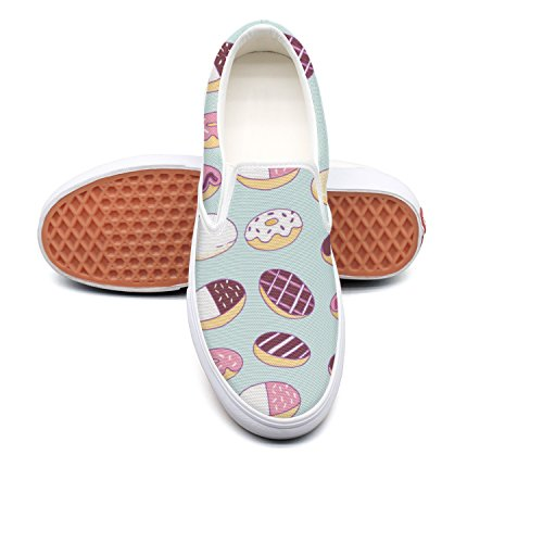 VCERTHDF Sweety Donuts Print Flat Shoe Man White (Shoe Lip Gloss Keychains)