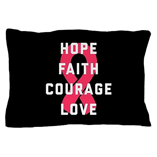 CafePress - Hope Faith Courage Love - Standard Size Pillow Case, 20''x30'' Pillow Cover, Unique Pillow Slip by CafePress