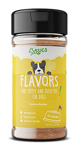 Basics FLAVORS Natural, Human Grade, Grain Free Dog Food Topper, Treat and Gravy 3.1oz (Chicken, 3.1oz) - Food Seasoning