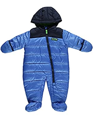 Carter Infant Boy Quilted Blue Snowsuit Baby Pram Adventure Scout Snow Suit