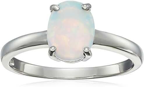 Gemstone Oval Ring in Sterling Silver (9x7mm)
