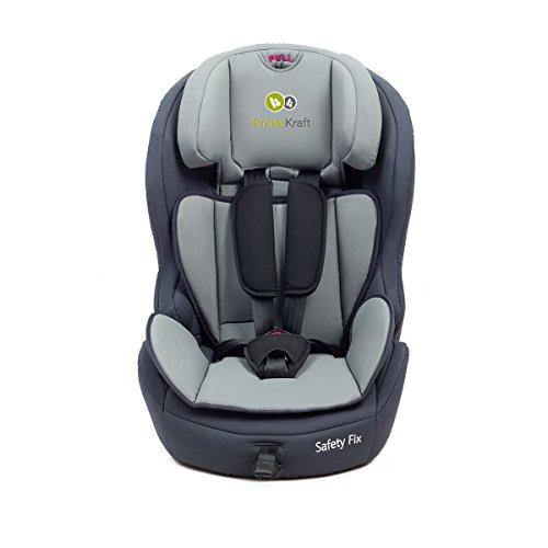 Kinderkraft Safetyfix Kinderautositz mit Isofix 9-36 kg Gruppe 1 2 3 Dunkelblau