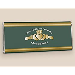 Chocolate Wedding Favors Irish Love (25 Wrappers)