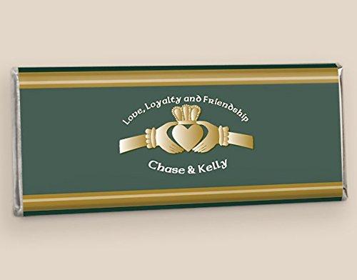 Chocolate Wedding Favors Irish Love (25 Wrappers)