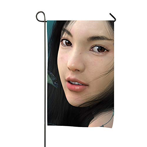 Lucy Curme Fantasy Women Garden Flag | Double-Sided,