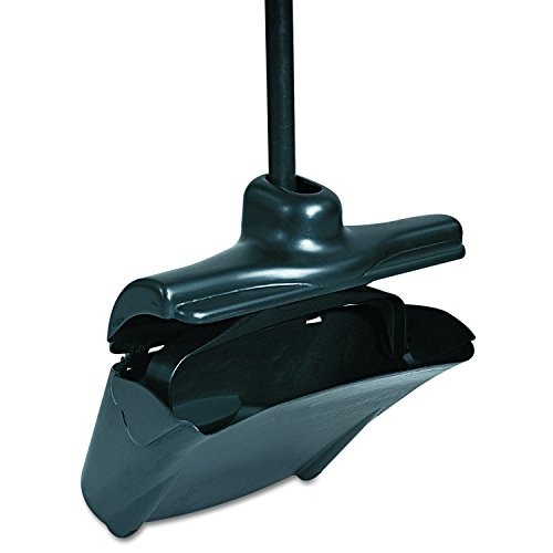 Pro Dust Pan - Rubbermaid Commercial Executive Series FG253200BLA Lobby Pro Upright Dust Pan, 12-4/5-inches Width