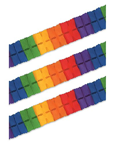 Beistle S55628RBAZ3 Tissue Garlands Party Streamers, Multicolored by Beistle