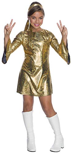 Child Movie Star Halloween Costume (Charades Little Girl's Hologram Disco Diva Childrens Costume, as Shown,)